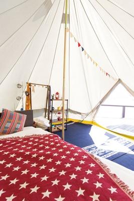 遊び心たっぷりの楽しいテント