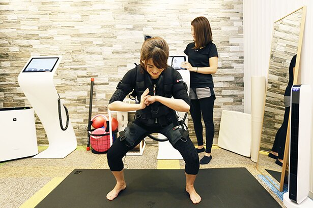 「ビューティーテラス銀座 GINZA SIX」店で体験できるトレーニングメニューはすべてマンツーマン