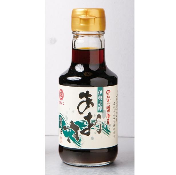 伊勢志摩産のアオサを使った「あおさ醤油」(540円)は磯の香りが漂う一品。特に、卵かけご飯とは相性抜群だ