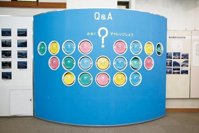 安乗埼灯台に関する情報を、Q&A形式のパネルで紹介している