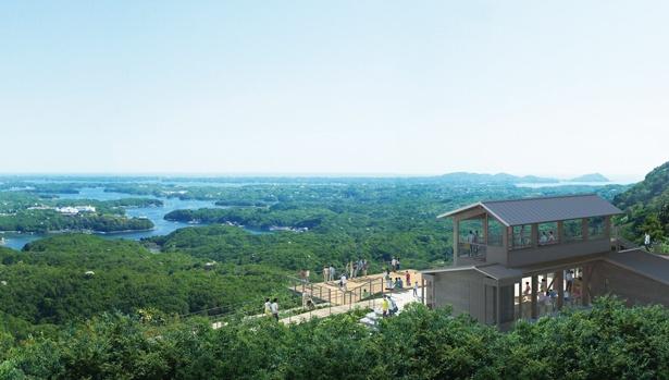心地いい風を感じながら、パノラマ絶景を眺められる