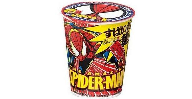 フタにもスパイダーマンが!