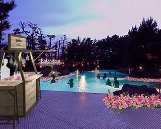 贅沢な花とアロマが漂う大人なナイトプールが7月20日(金)より3日間限定開催!