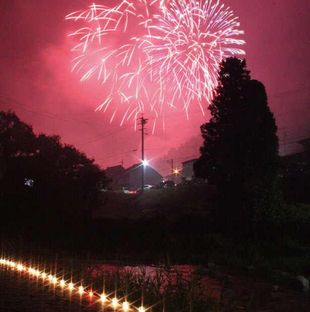 花火大会は足助川の遊歩道や橋から見るのがベスト