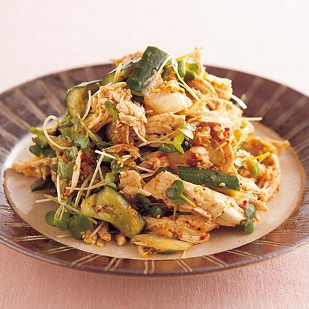 【関連レシピ】蒸しどりとキムチのおかずサラダ