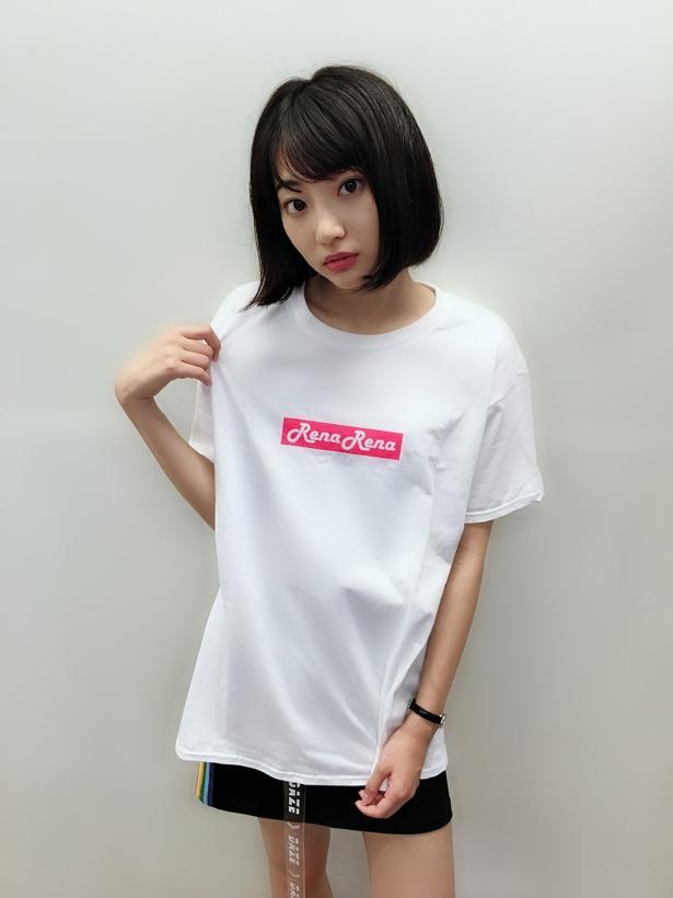 """""""RenaRena""""とプリントされたTシャツはバースデーイベントチケット購入者限定の超プレミアムな一品だ!!"""