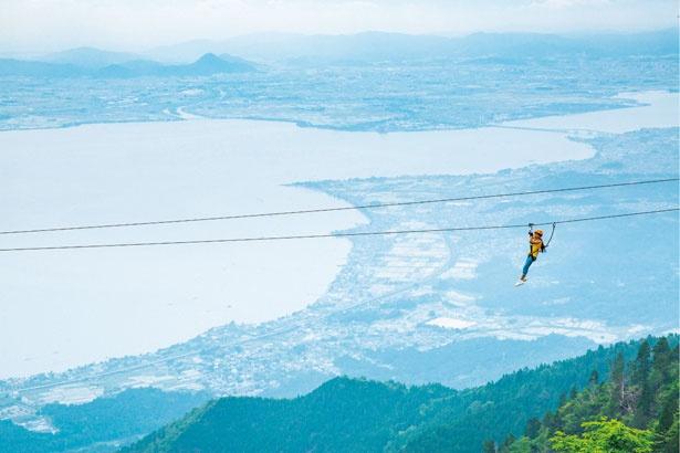 琵琶湖を見下ろす絶景は爽快/びわ湖バレイ
