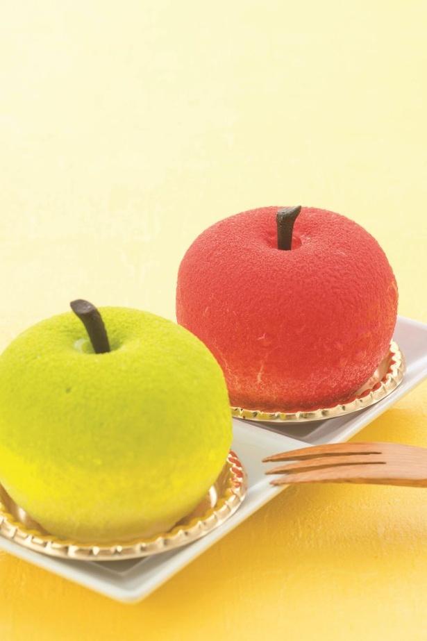 ふわふわムースとシャキシャキの果肉の組み合わせが絶妙なエニウェアドアの「原宿りんご」(1個 1734円)