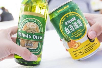 台湾ビールで乾杯を