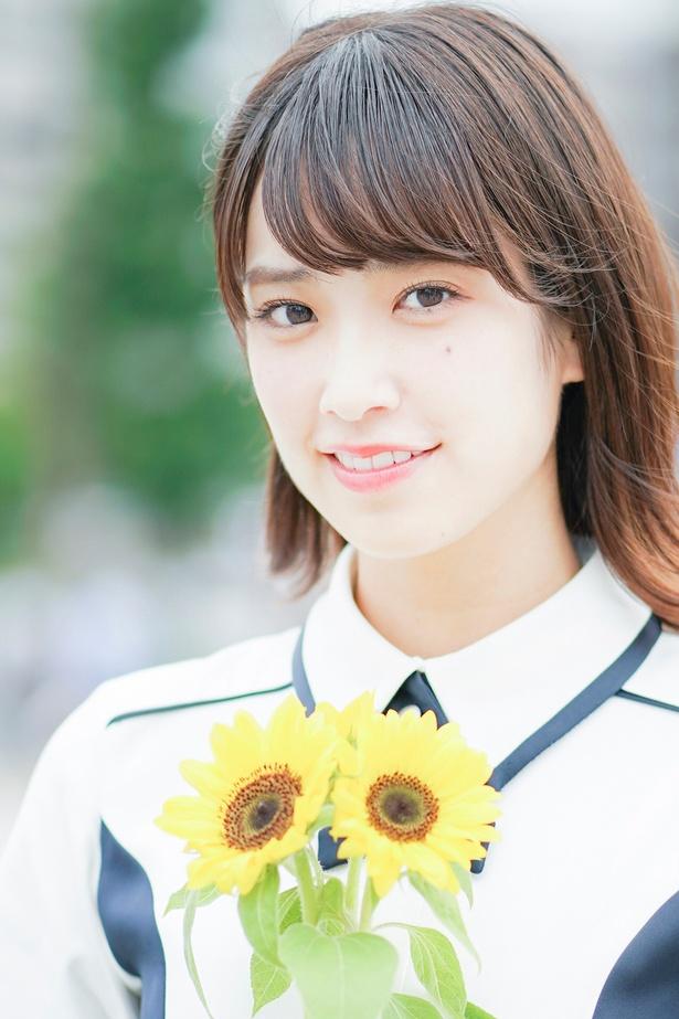 デビューアルバム「走り出す瞬間」を発売した けやき坂46・佐々木久美