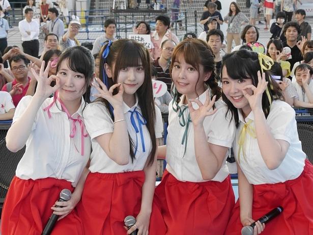 ギルドロップス(左から永恵由彩、山田麻莉奈、小坂井祐莉絵、江原裕理)のCDデビューが決定!