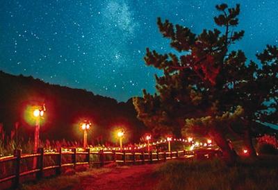 9月中旬から10月中旬に行われる山灯り/曽爾高原