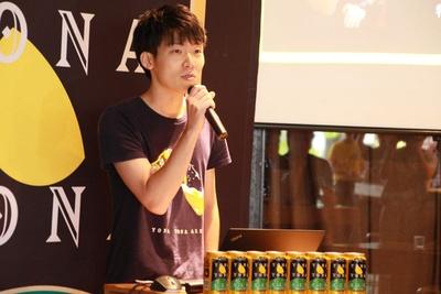 プロジェクトリーダーの渡部翔一氏。「良い飲み会ができたら、良いチームづくりができる」と話す