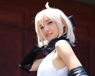 「Fate/Grand Order」のセイバー/沖田総司に扮したLazyMayuさん