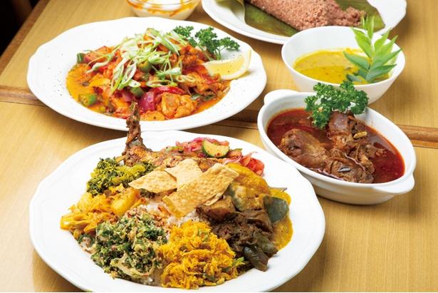 彩り鮮やかな本場のスリランカ料理が味わえる