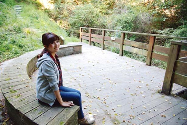 疲れたら「沢の休憩所」でひと休み/一庫公園 自然観察の森