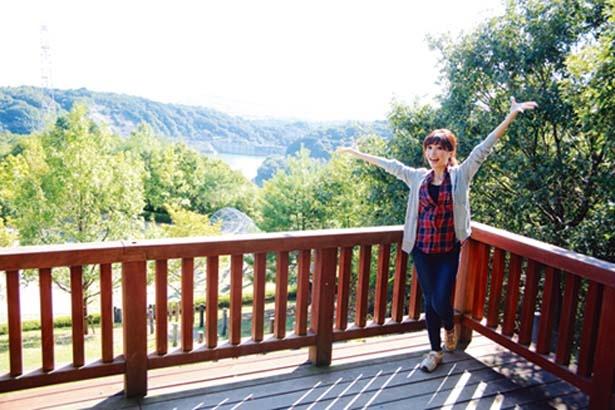「見晴らしの丘・展望台」に到着/一庫公園 自然観察の森