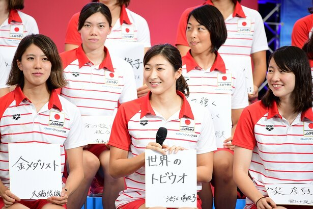 日本代表選手壮行会より
