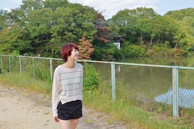 白旗池西の「イタドリの小路」/交野いきもの ふれあいの里
