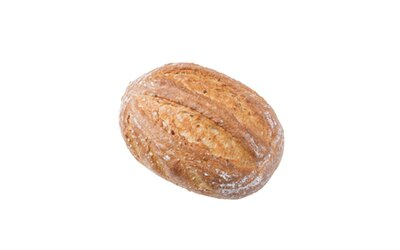 「天然酵母おひさまパン」の「玄小麦カンパーニュ」(480円)。発芽させた玄小麦を練り込む。粒感がありもっちり※価格は2018年7月現在のものです