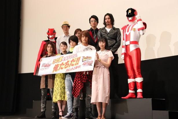 「劇場版 仮面ライダービルド Be The One(ビー・ザ・ワン)」の初日舞台あいさつが開催された