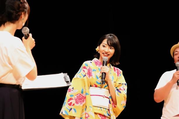 武田玲奈は、自分で選んだという浴衣でファンの前に登場した
