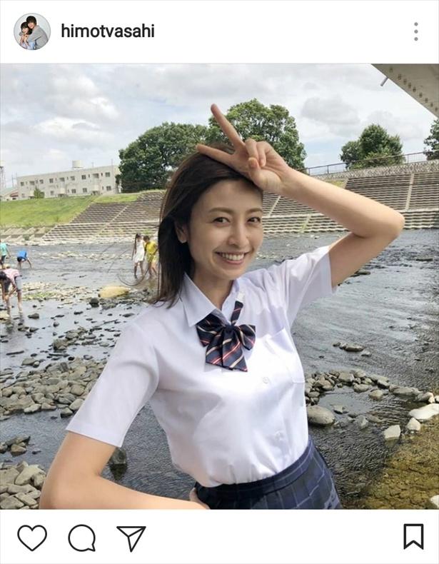 桜子役の片瀬那奈が制服姿を披露!