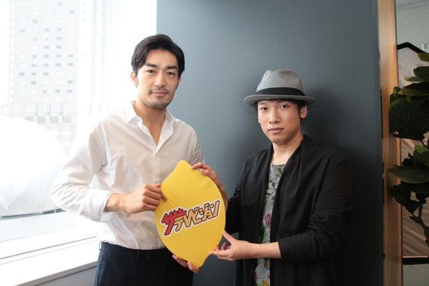 ドラマ「ラストチャンス」に出演する大谷亮平と主題歌、劇伴音楽を担当したシンガーソングライターの村松崇継