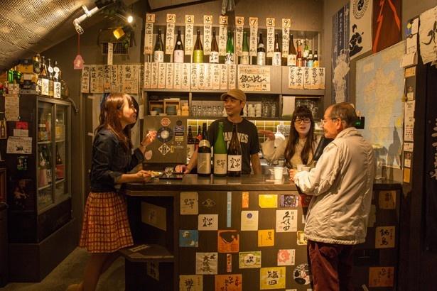 酒の九州 / さゆりママやスタッフの人たちを含め、客同士の距離感が近いのも魅力