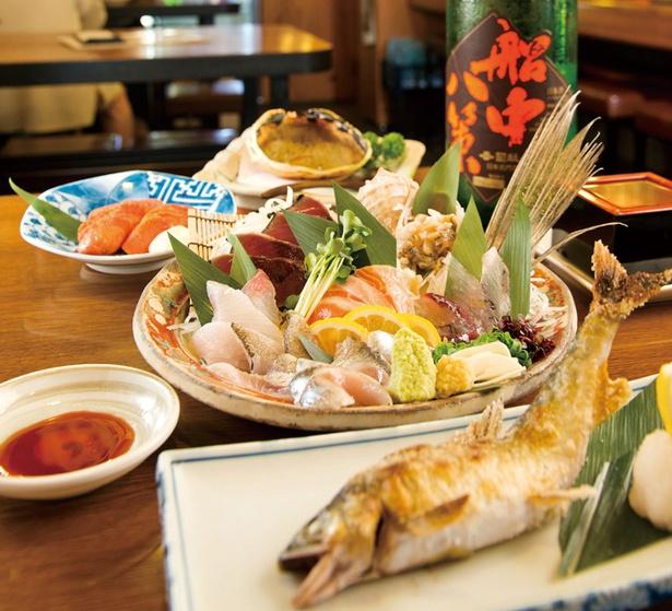 新鮮な海鮮料理と選りすぐりの日本酒が味わえる「魚と地酒 魚たま」