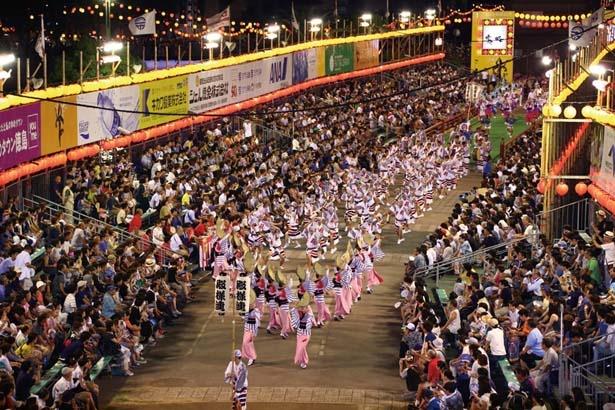 【写真を見る】今年度は、すべての有料演舞場において、22時以降に有名連が登場予定/阿波おどり
