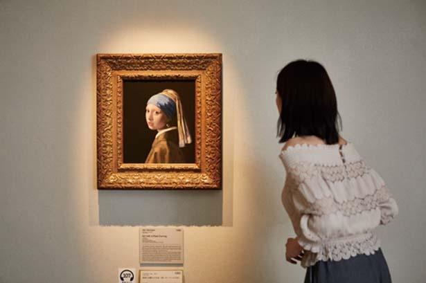 フェルメールの部屋では、「真珠の耳飾りの少女」のほか、4作品も同時に展示/大塚国際美術館