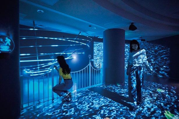 鮮やかな色彩が特徴的なデジタル空間で癒される/大鳴門橋架橋記念館エディ