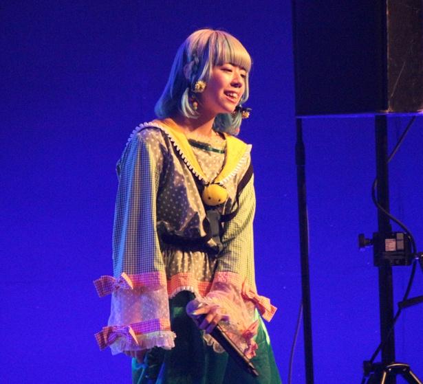 劇場版ゴキゲン帝国の白幡いちほ、先斗ぺろ、廿楽なぎ、紫乃ありすが8月5日、「TOKYO IDOL FESTIVAL 2018」のDOLL FACTORYに出演した