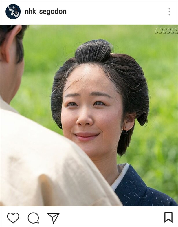 晴れ晴れとした表情で吉之助のプロポーズを受ける糸(黒木華)