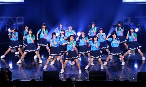スペシャルファンミーティングステージ(Tシャツ購入者限定ステージ)に出演したSTU48