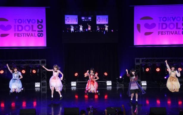 まねきケチャが「TOKYO IDOL FESTIVAL 2018」最終日のHOT STAGEに出演した
