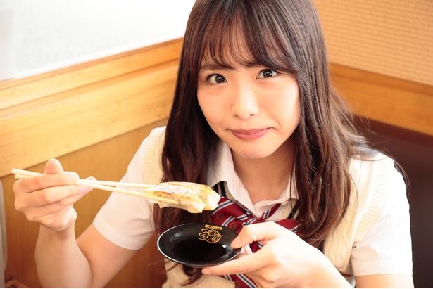 「餃子、2個いっきにいっちゃいます!」(かおたん)