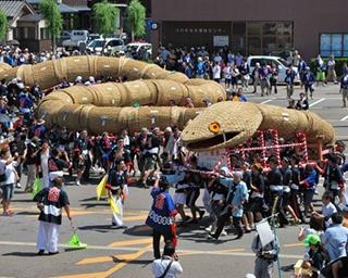 伝説の大蛇が練り歩く!新潟で「えちごせきかわ大したもん蛇まつり」