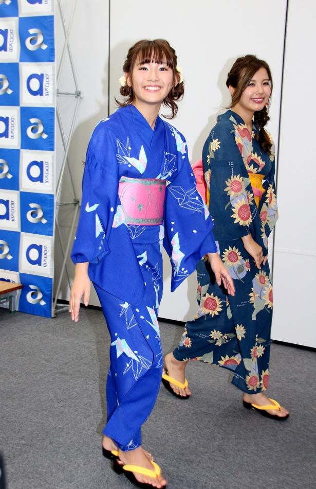 「(浴衣の下は)下着を着けてない」と明かした浅川梨奈。「みんなで東京タワーに行きたいです(笑)」と希望していた