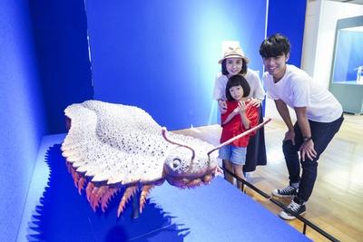 夏の特別展「へんてこモンスター」。史上最大の陸上節足動物、アースロプレウラの復元模型も展示
