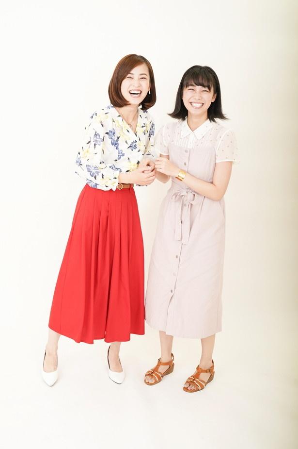さすが息ぴったり! 高田夏帆&滝裕可里(写真左から)の撮影は笑顔が絶えないものに