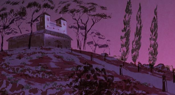 川の精の言葉に従い、少女は王子が暮らす城へ向かう