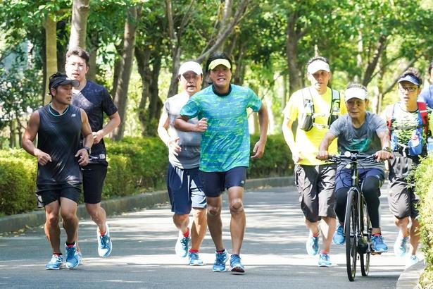 みやぞんはこれまでの練習で、総距離164kmを走行!