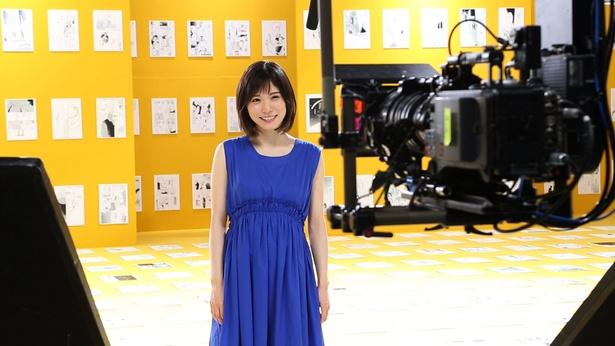 松岡のCM撮影の様子(2)