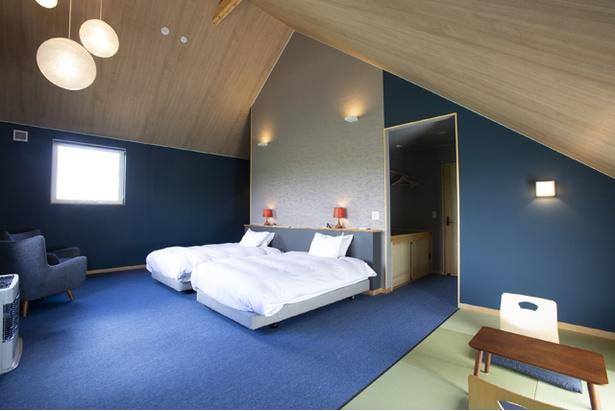 客室は全4室。全て異なるカラーを使い、それぞれ違った雰囲気