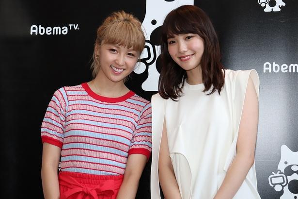 Dream Amiと飯豊まりえ(写真左から)