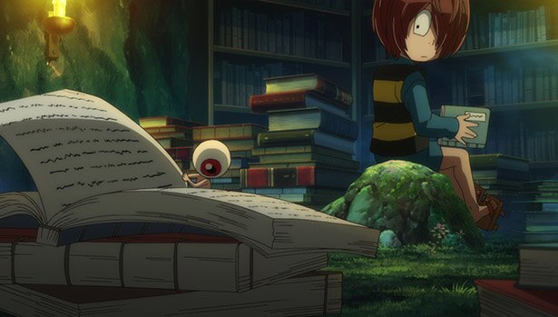 「ゲゲゲの鬼太郎」第20話の先行カットが到着。不思議な花の写真をねこ娘が送られ!?