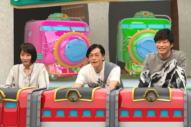 8月13日(月)放送の「ネプリーグ」(フジテレビ系)に吉岡里帆、井浦新、田中圭(写真左から)が登場