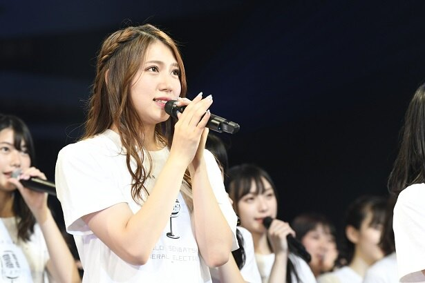 「AKB48グループ感謝祭~ランク外コンサート~」で世界選抜総選挙101位として発表されたAKB48・茂木忍